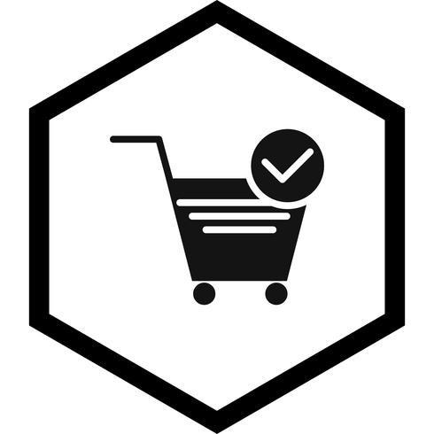 Verified Cart Items Icon Design vector