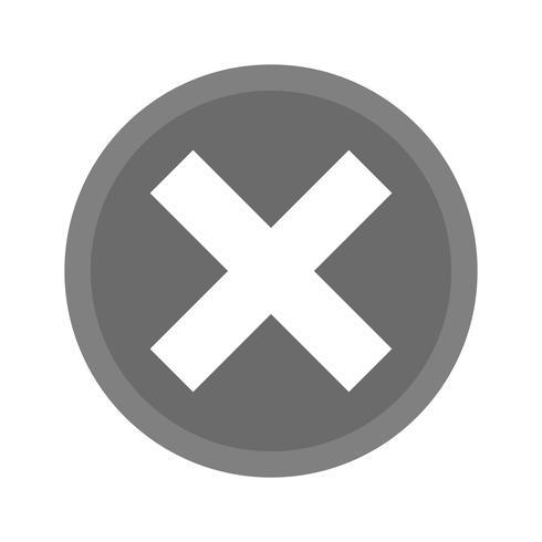 Annuler la conception de l'icône vecteur