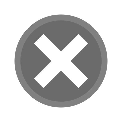 Cancel Icon Design vector