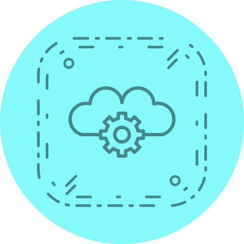 Cloud Settings Icon Design vector