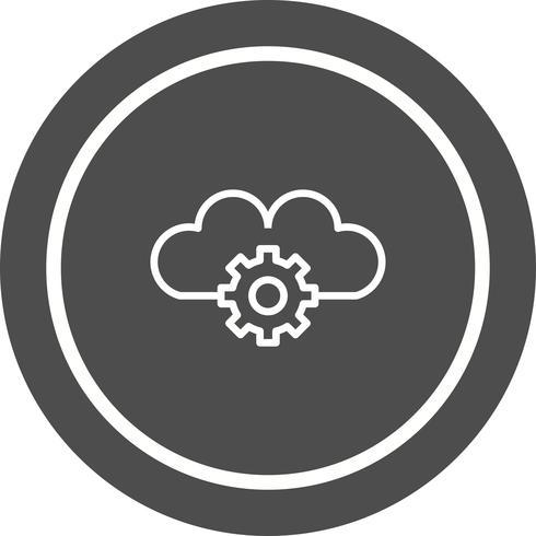 Projeto de ícone de configurações de nuvem vetor