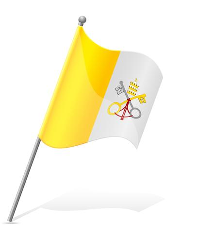 vlag van de Vaticaanstad vectorillustratie