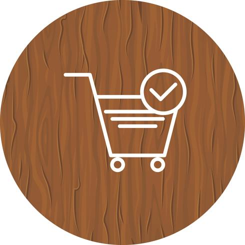 Verified Cart Items Icon Design vector