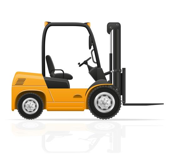 forklift truck vector illustration
