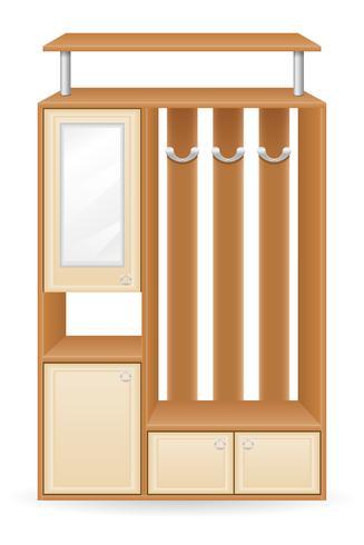 Ilustración de vector de muebles hall