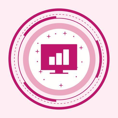 Stats Icon Design vetor