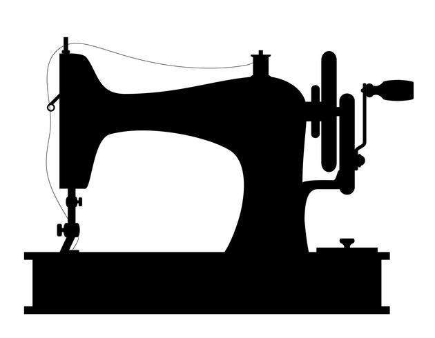 máquina de costura antiga ilustração em vetor estoque vintage ícone retro