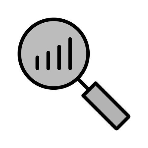 Design de ícone de análise vetor