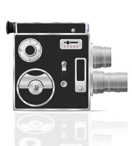 Ilustración de vector de cámara de vídeo de película vintage retro antiguo
