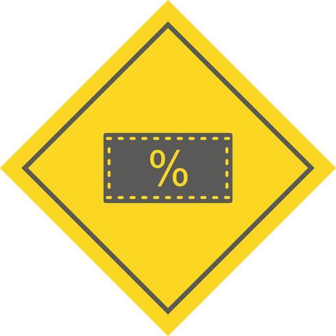 Design d'icône discount vecteur