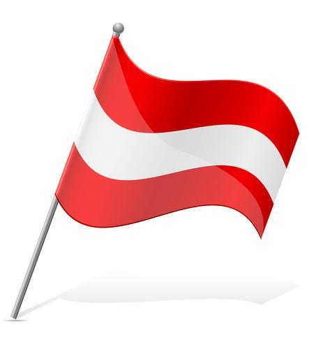 Bandera de Austria ilustración vectorial