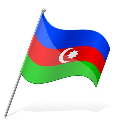 Bandeira da ilustração vetorial de Azerbaijão vetor