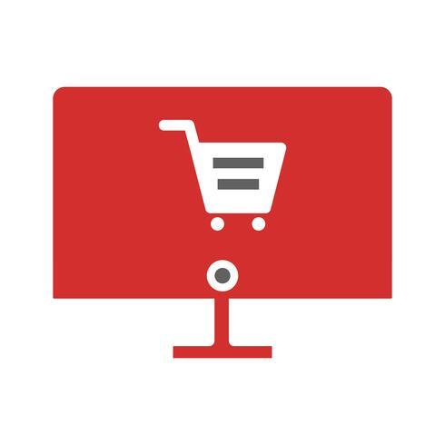Progettazione dell'icona dello shopping online vettore