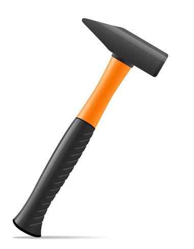 martelo de ferramenta com ilustração vetorial de alça de plástico vetor