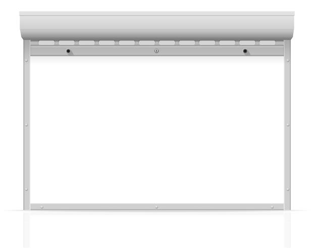 Metall perforierte rollende Fensterläden-Vektorillustration