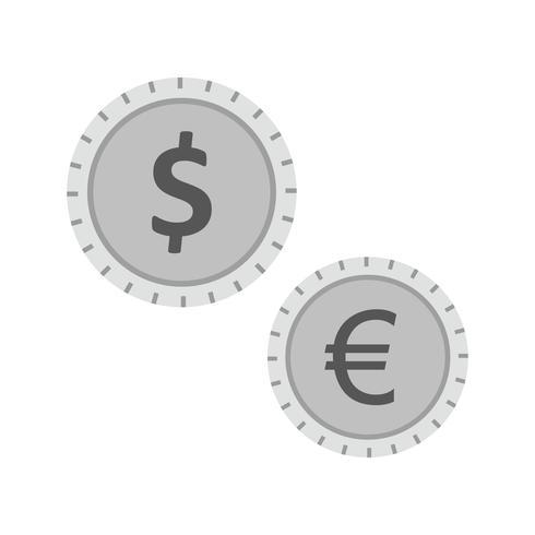 Diseño de iconos de monedas vector