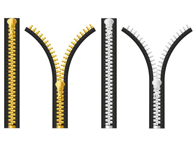 Reißverschluss-Vektor-Illustration