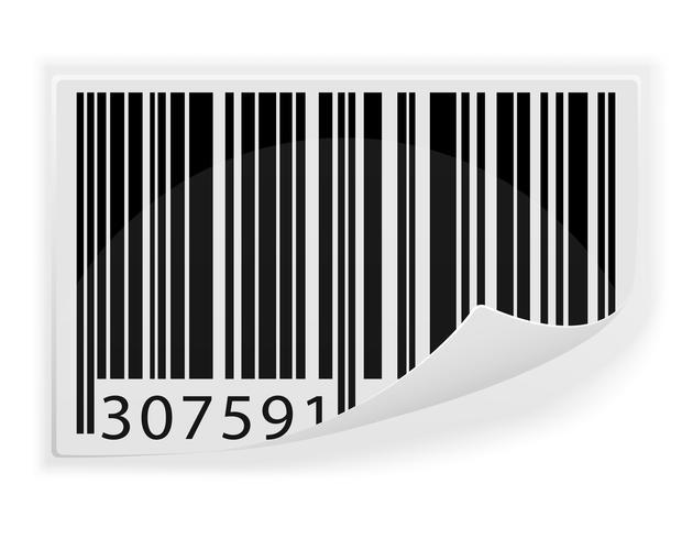 ilustración vectorial de código de barras