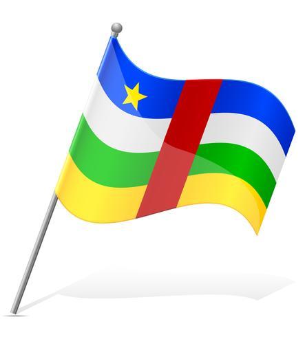 Bandera de la ilustración de vector de República Centroafricana