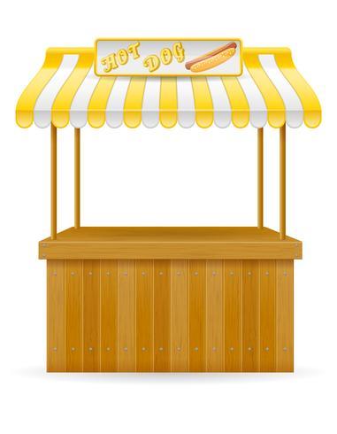 cibo di strada stallo illustrazione vettoriale hotdog