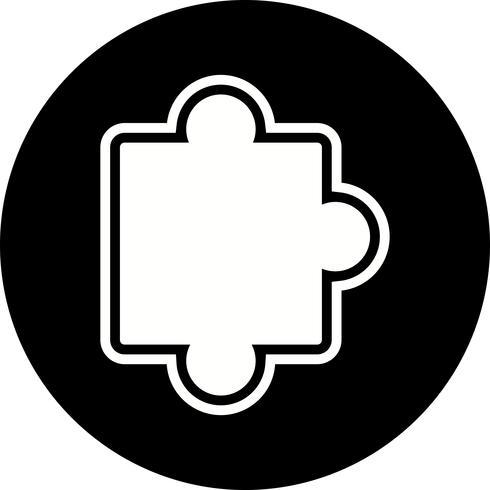 Pièce de puzzle icône Design vecteur