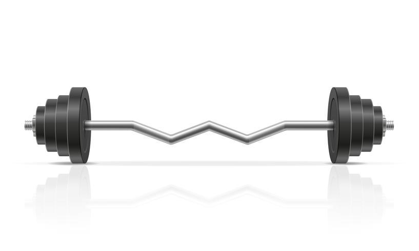 haltère métallique pour la construction musculaire en illustration vectorielle de gym