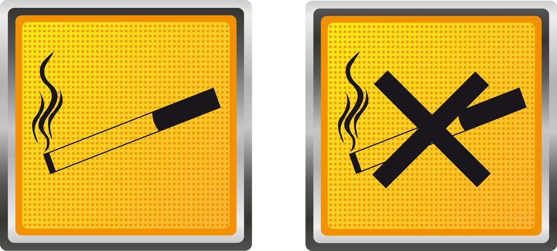 ikoner cigarett för design vektor illustration