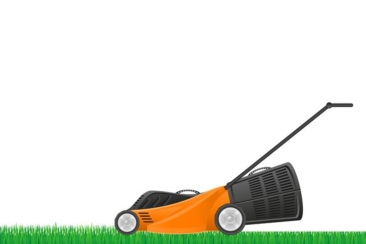 lawn mower stock vector illustration