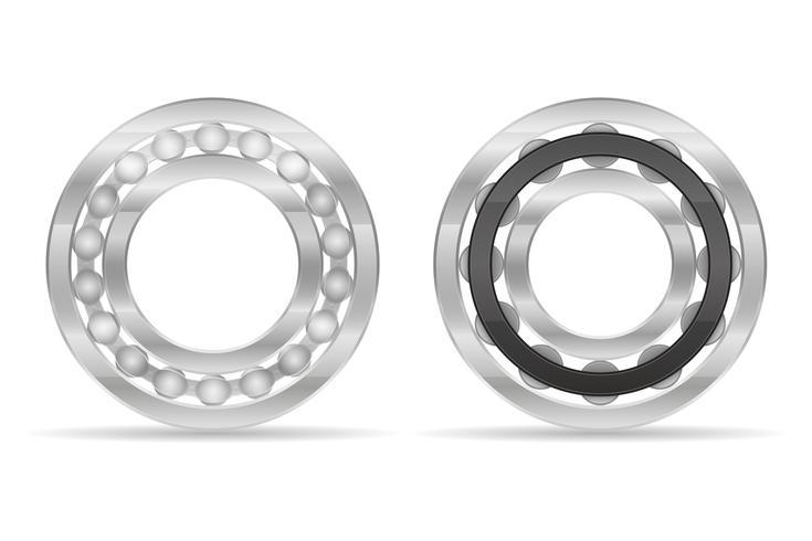 Bola de metal y rodamiento de rodillos ilustración vectorial vector