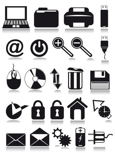 icone web internet vettore