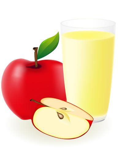 Ilustración de vector de jugo de manzana roja