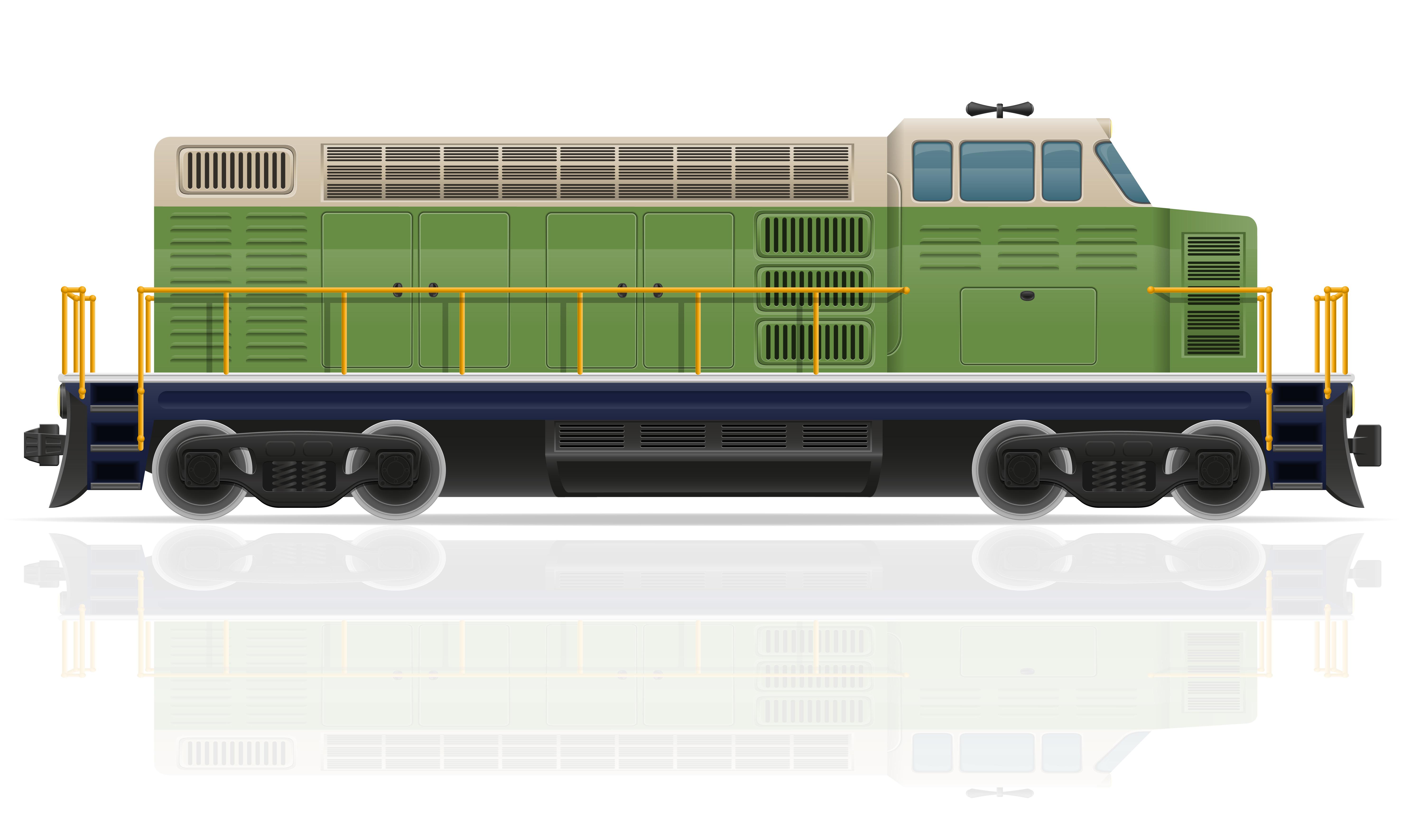 railway locomotive train vector illustration - Download ...