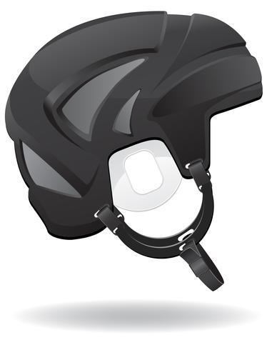 hockey helmet vector illustration
