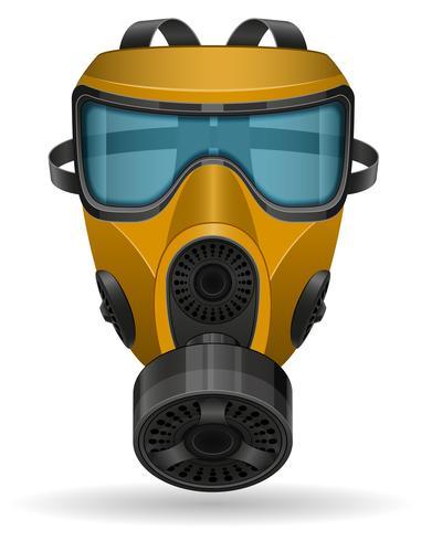 illustration vectorielle de masque à gaz