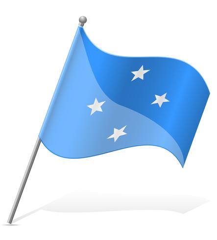 drapeau de la Micronésie vector illustration