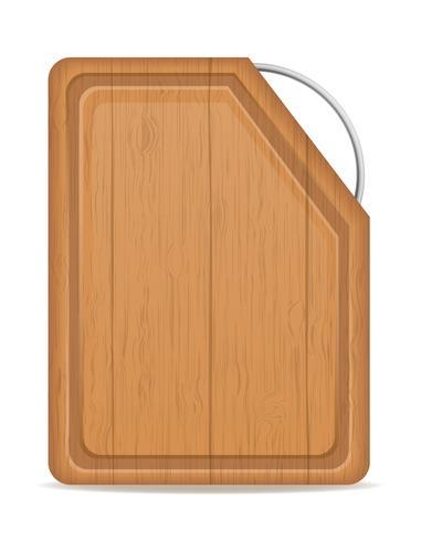 planche à découper en bois avec illustration vectorielle poignée en métal