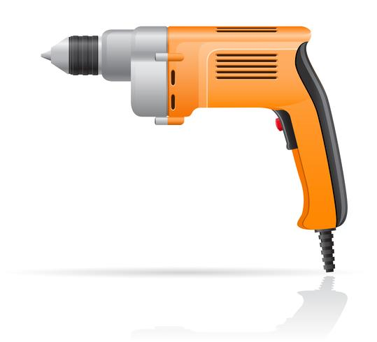 electric drill vector illustration