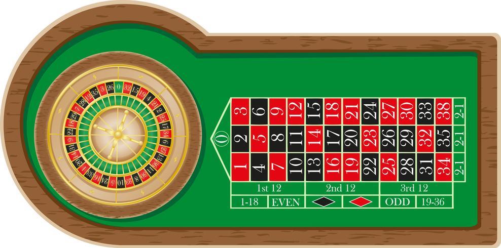 Ilustración de vector de casino ruleta