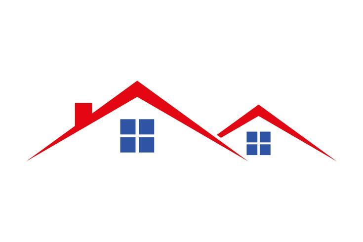 Logohaus für Verkaufsmiete oder Wohneigentumvektorillustration
