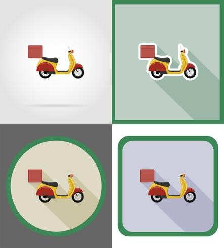 delivery vehicle flat icons vector illustration