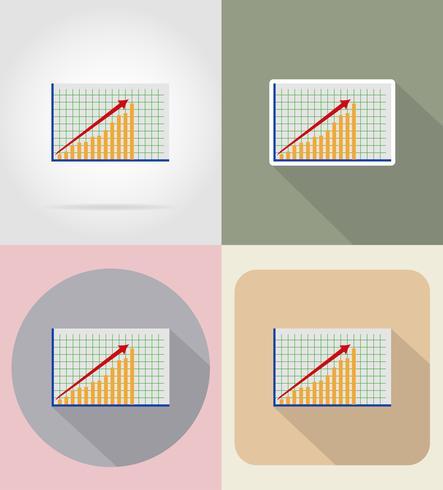icone piane grafica vettoriale illustrazione di affari