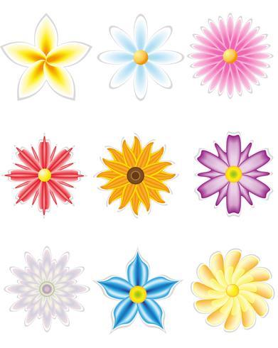 Ikonensatz Blumen für Design