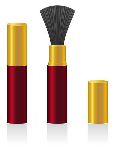 illustrazione vettoriale di pennello polvere