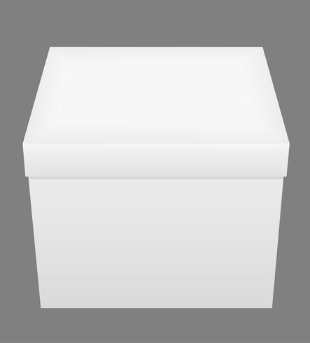 Ilustración de vector de caja de embalaje cerrado blanco