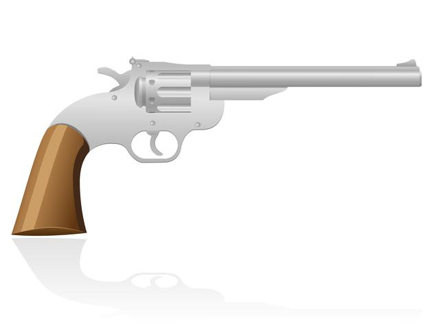 Revolver die Wildwest-Vektor-Illustration