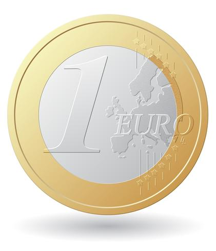 één euro munt vectorillustratie