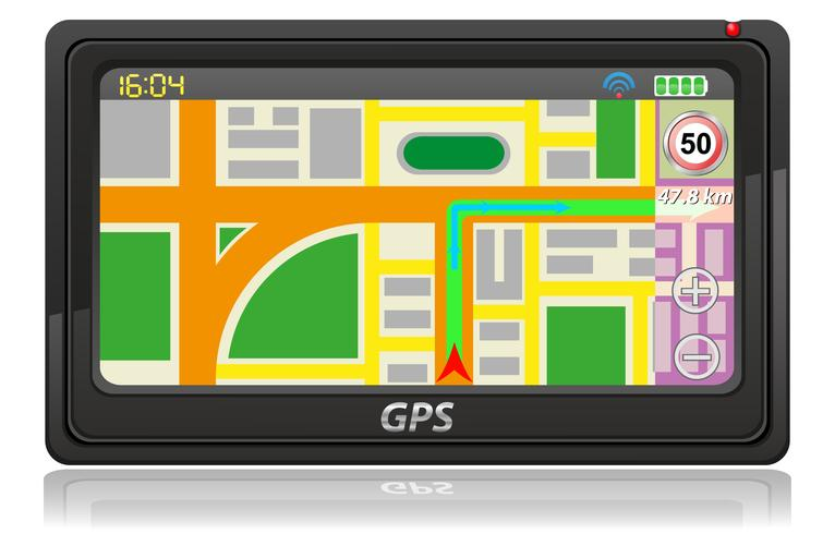 illustrazione vettoriale di navigatore gps