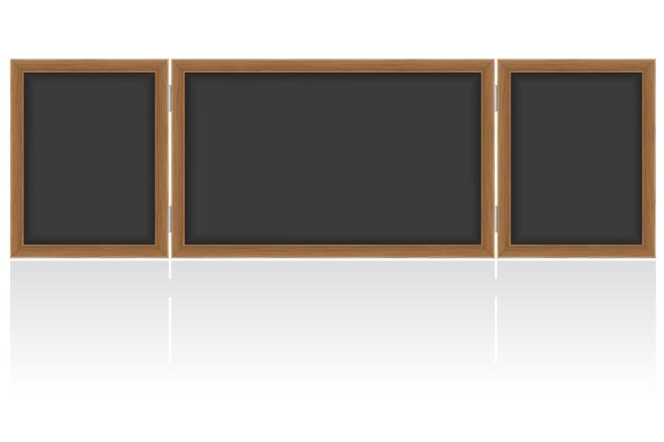 Consejo escolar de madera para escribir tiza ilustración vectorial