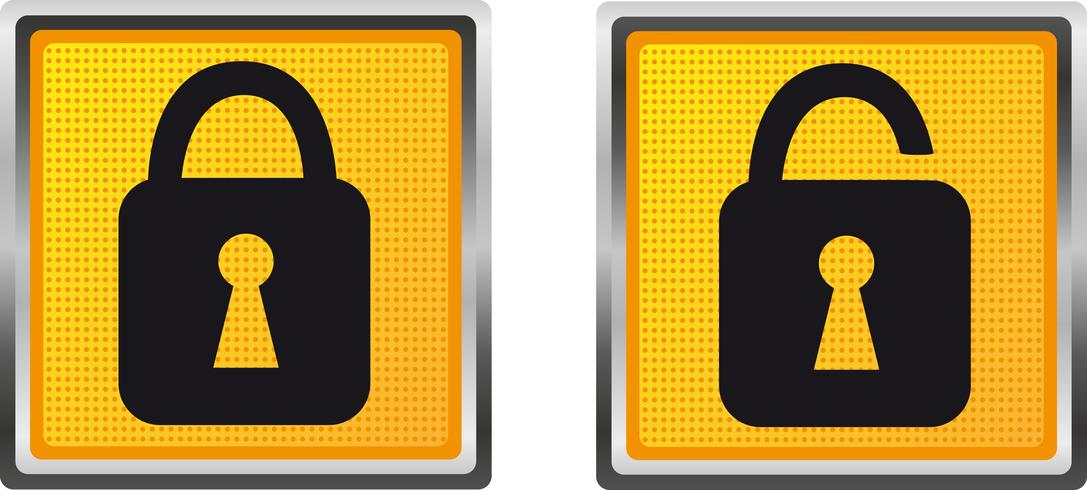 serratura delle icone per l'illustrazione di vettore di progettazione