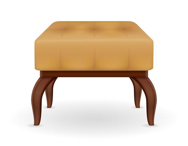 illustrazione vettoriale di mobili pouf